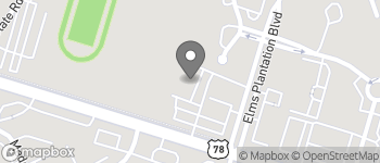 Map of 2575 Elms Center Road in North Charleston