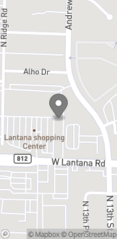 Map of 1587 W Lantana Rd in Lantana