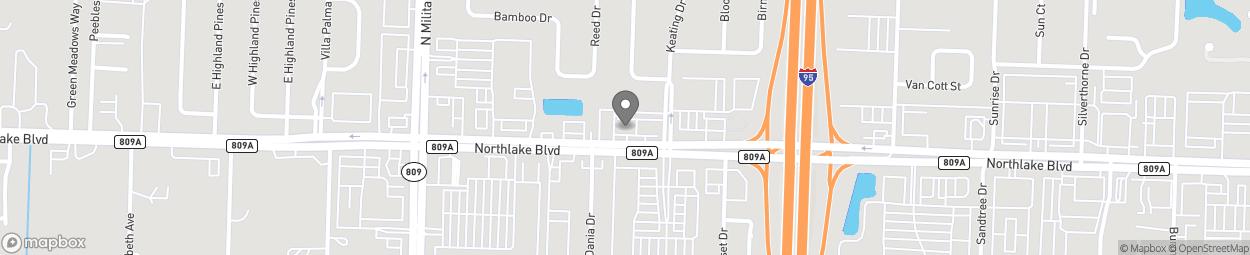 Map of 4213 Northlake Blvd in Palm Beach Gard