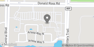 Map of 4550 Donald Ross Rd in Palm Beach Gardens