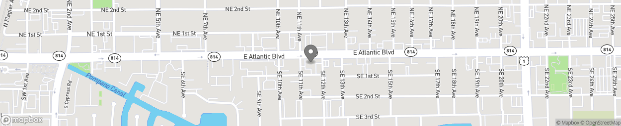 Map of 1100 E Atlantic Blvd in Pompano Beach