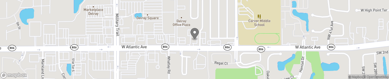 Map of 4673 W Atlantic Avenue in Delray Beach