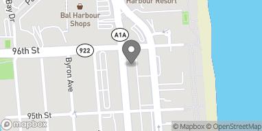 Mapa de 9569 Harding Ave en Surfside