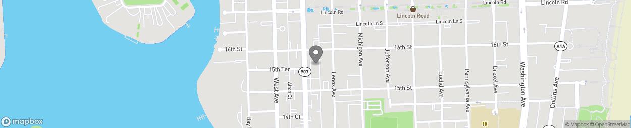Map of 1531 Alton Road in Miami Beach