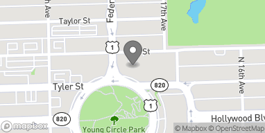 Map of 1761 N Young Circle in Hollywood