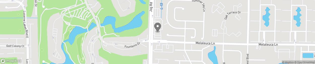 Map of 4644 Jog Road in Greenacres