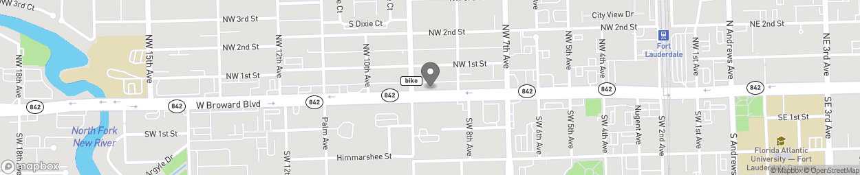 Map of 821 W Broward Boulevard in Fort Lauderdale