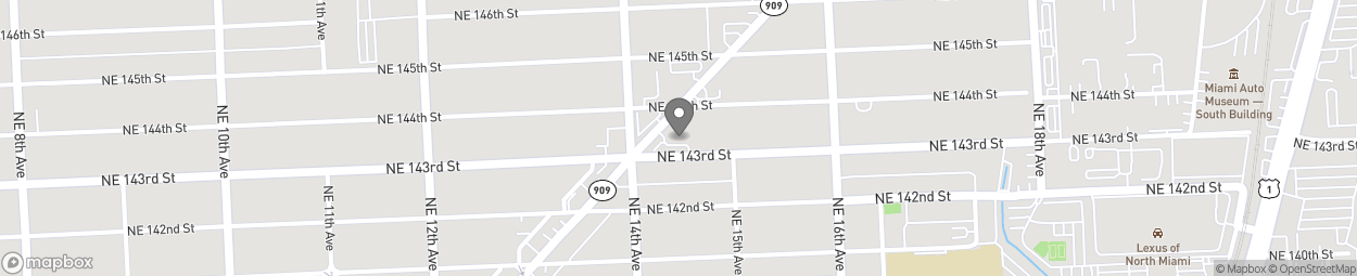 Map of 14301 W Dixie Highway in North Miami