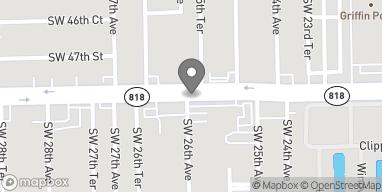 Mapa de 2600 Griffin Rd en Ft Lauderdale