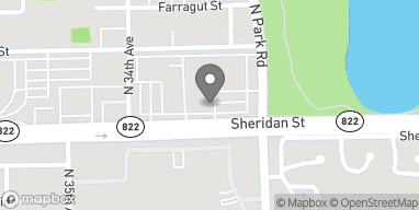 Map of 3353-B Sheridan St in Hollywood