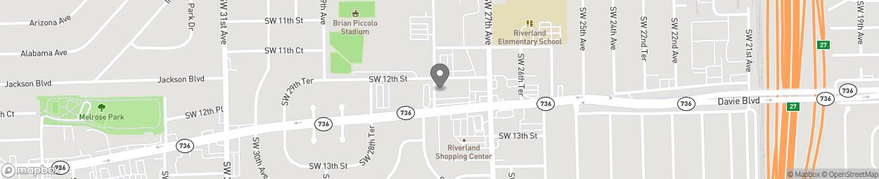 Map of 2791 Davie Boulevard in Fort Lauderdale