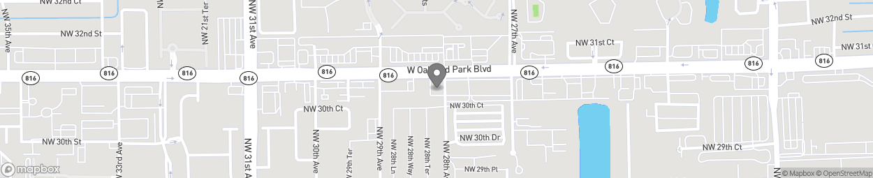 Map of 2804 W Oakland Park Blvd in Oakland Park