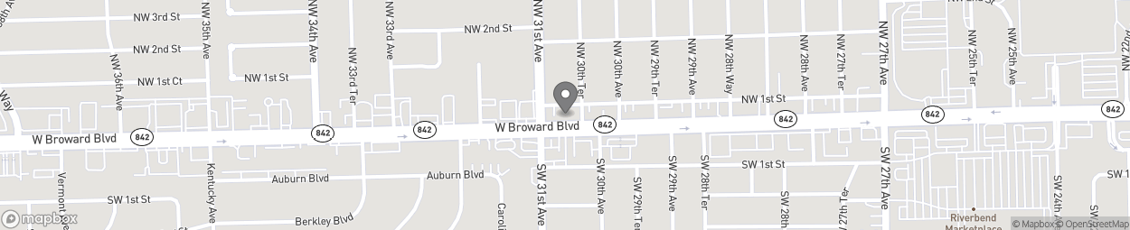 Map of 3077 W Broward Boulevard in Fort Lauderdale