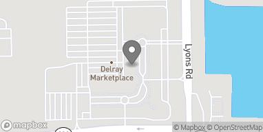 Mapa de 14851 Lyons Road en Delray Beach