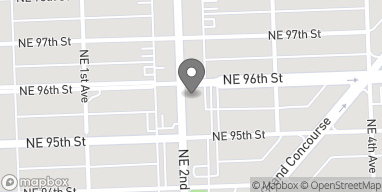 Map of 9533 NE 2nd Ave in Miami Shores