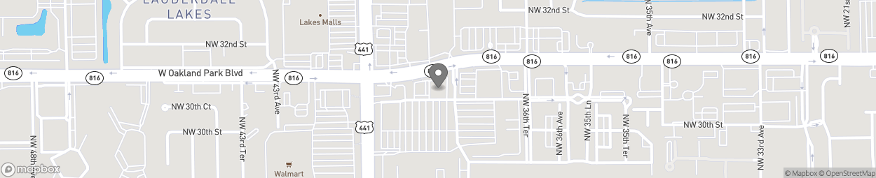 Map of 3950 W Oakland Park Blvd in Lauderdale Lake
