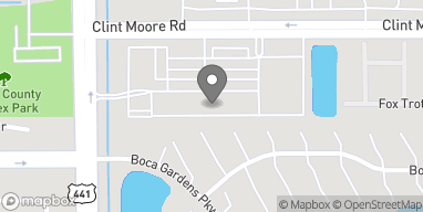 Map of 9858 Clint Moore Rd in Boca Raton