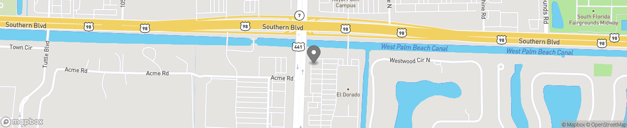 Map of 9950 Southern Blvd in West Palm Beach