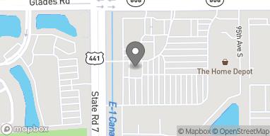 Mapa de 9924 Glades Road en Boca Raton