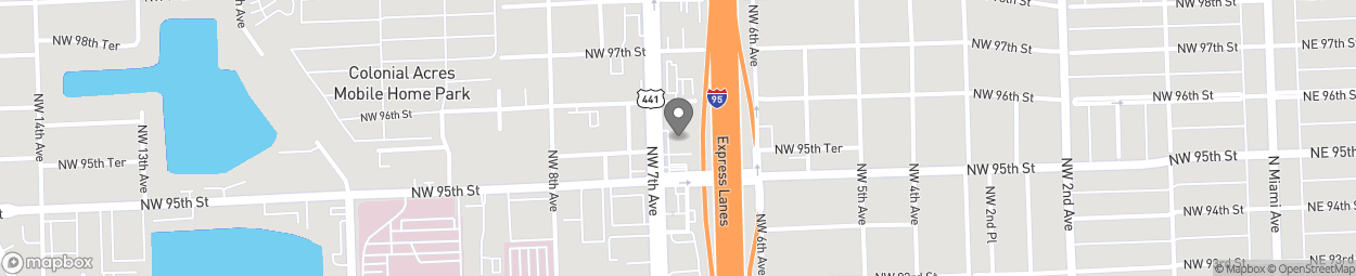 Map of 9575 NW 7th Ave in Miami