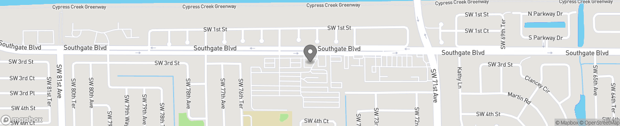 Map of 7522 Southgate Boulevard in North Lauderdale