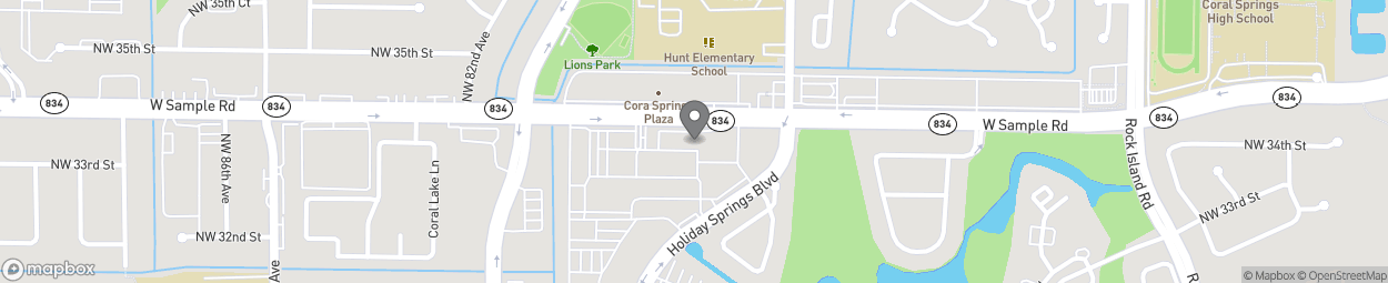 Map of 7912 W Sample Road in Margate