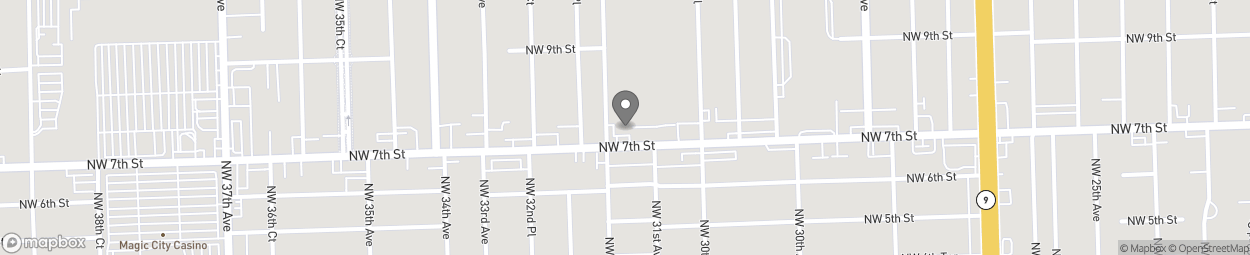 Map of 3145 NW 7th Street in Miami