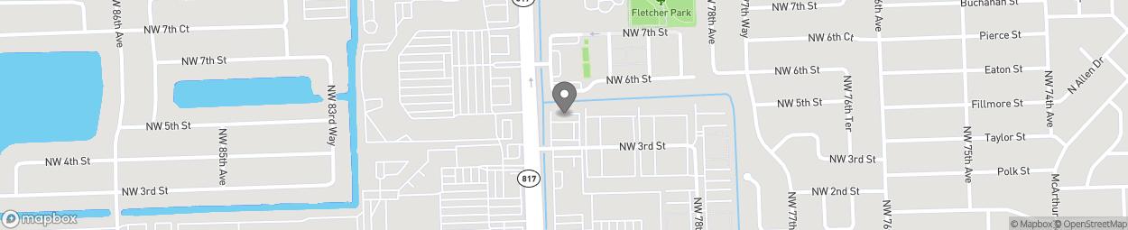 Map of 303 Nuniversity Drive in Pembroke Pines