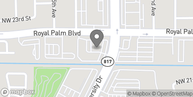 Map of 2204 University Dr in Coral Springs