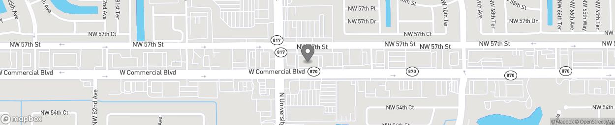 Map of 7500 NW 57th Street in Tamarac