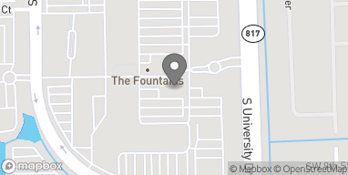 Map of 801 S. University Drive in Plantation