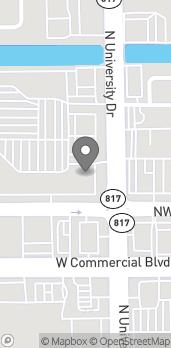 Mapa de 5709 N University Drive en Tamarac