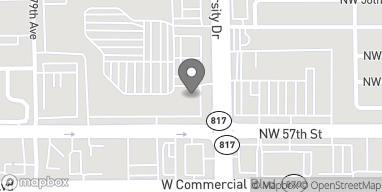 Map of 5709 N University Drive in Tamarac