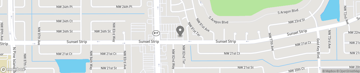 Map of 2320 University Dr in Sunrise