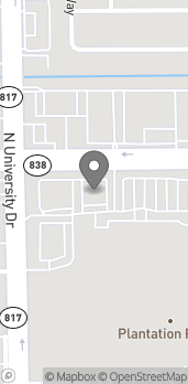Map of 7900 W Sunrise Blvd in Plantation