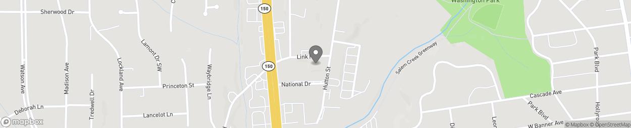 Carte de 1210 Link Road à Winston-Salem