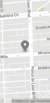 Map of 215 Miracle Mile in Coral Gables