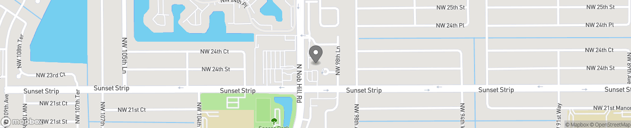 Map of 2400 North Nob Hill Road in Sunrise