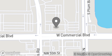 Map of 10181 W Commercial Blvd in Sunrise
