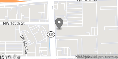 Mapa de 5644 NW 167th Street en Miami Lakes