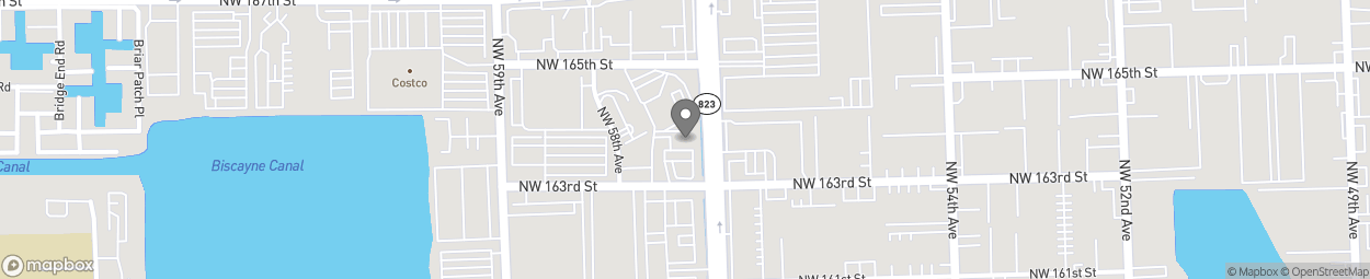 Map of 5711 NW 163rd Street in Miami