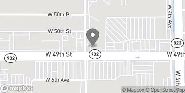 Mapa de 597 W 49th St en Hialeah
