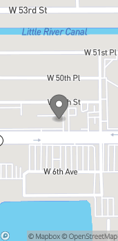 Map of 663 W 49th St in Hialeah