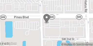 Map of 11380 Pines Boulevard in Pembroke Pines
