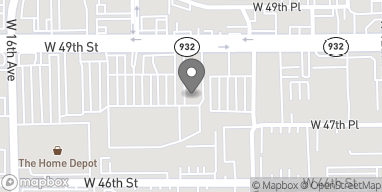 Map of 1448 W. 49th Street in Hialeah