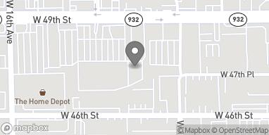Mapa de 1448 W. 49th Street en Hialeah