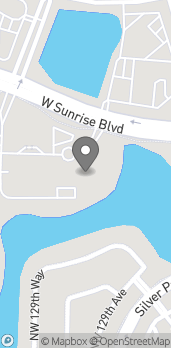 Map of 13450 West Sunrise Blvd in Sunrise