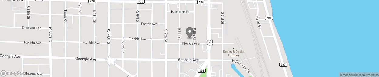 Map of 625 South 5th Street in Fort Pierce