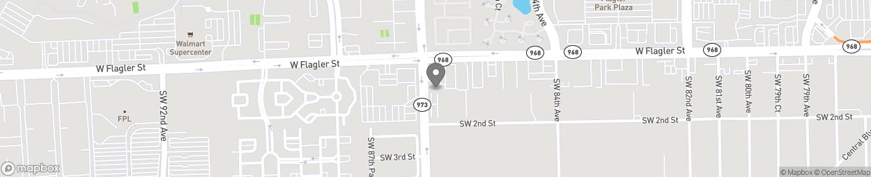 Map of 135 SW 87th Avenue in Miami