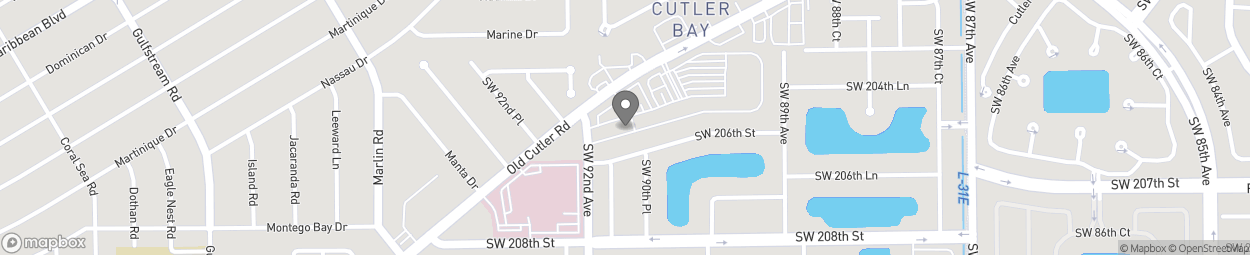 Map of 20575 Old Cutler Rd in Miami